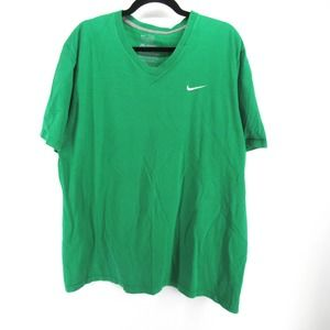 Nike Athletic Dept. Embroidered Swoosh V Neck Tee